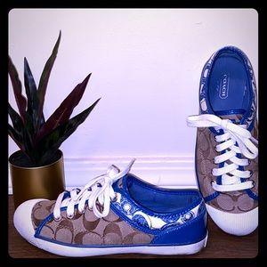 Blue COACH Canvas Tennis Shoes